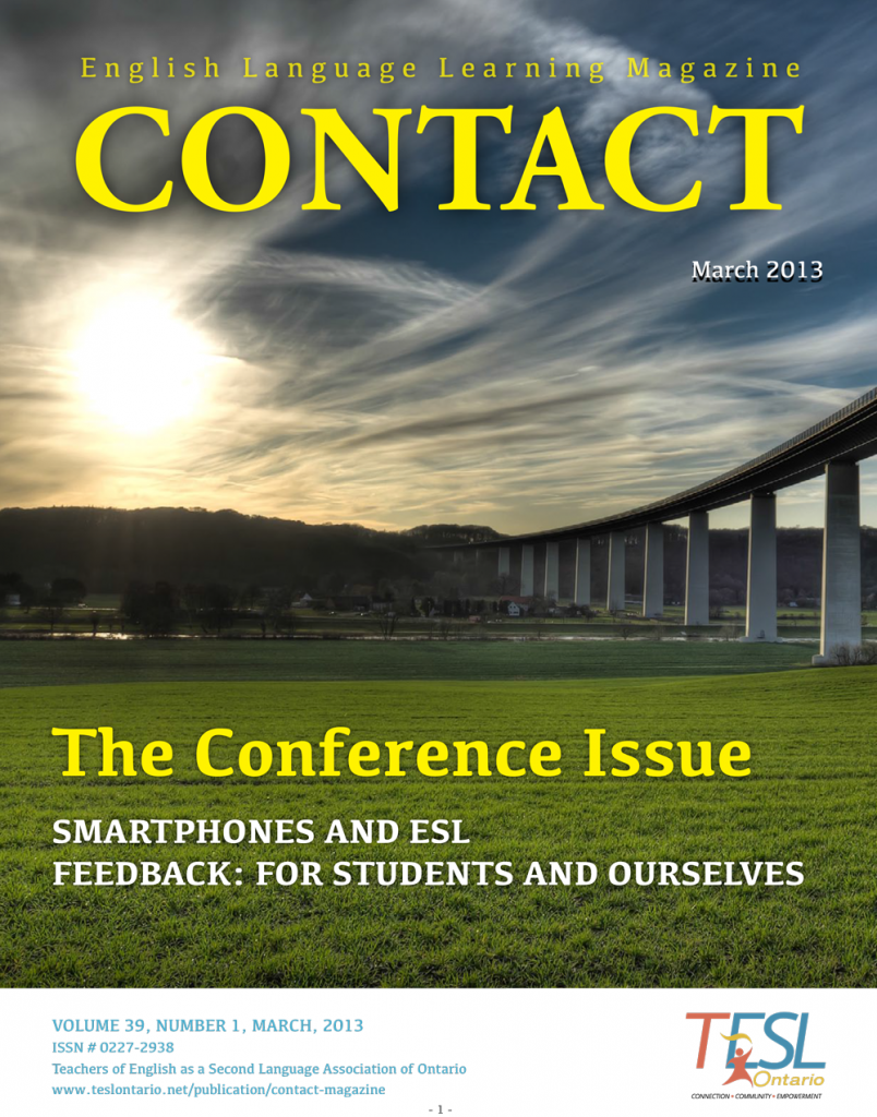 Contact Spring 2013 Issue Cover