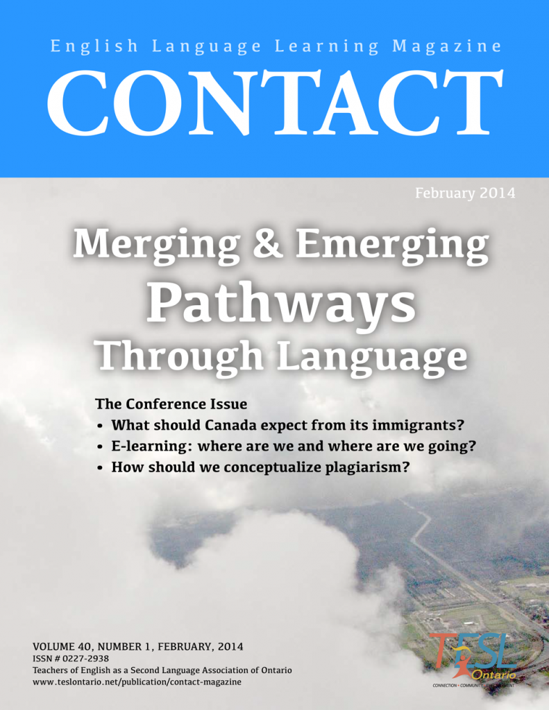 Contact Spring 2014 Issue Cover