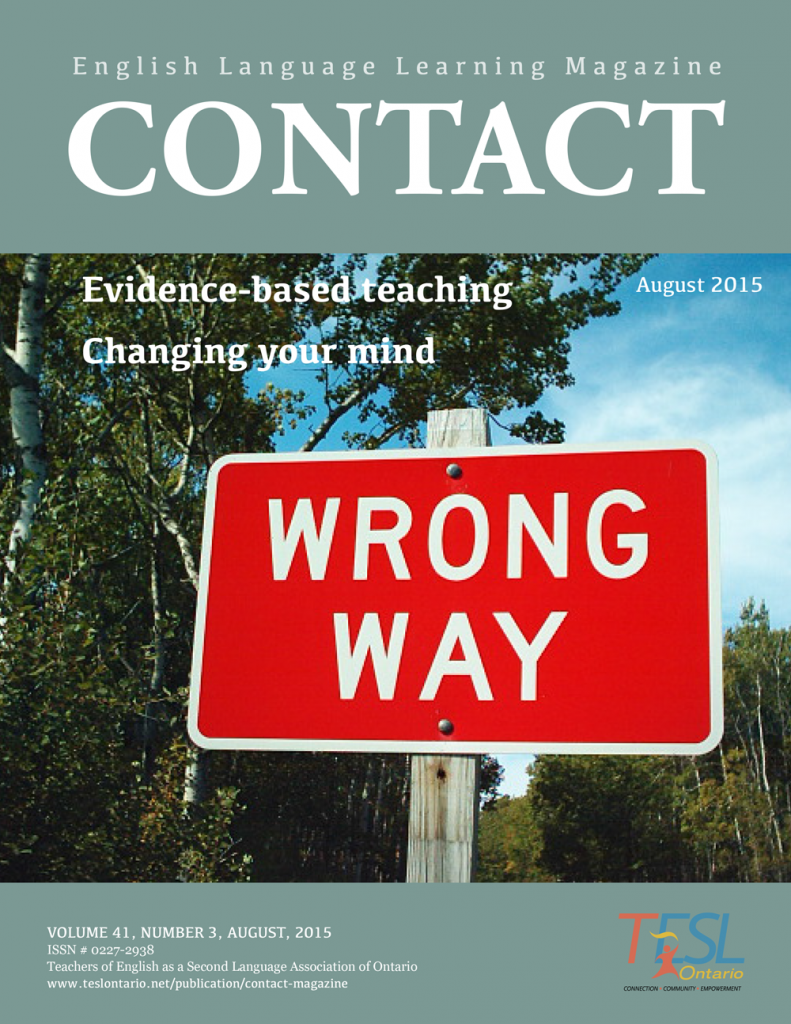 Contact Summer 2015 Issue Cover
