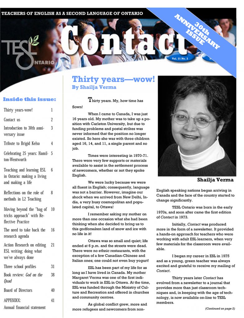 Contact Fall 2005 Issue Cover