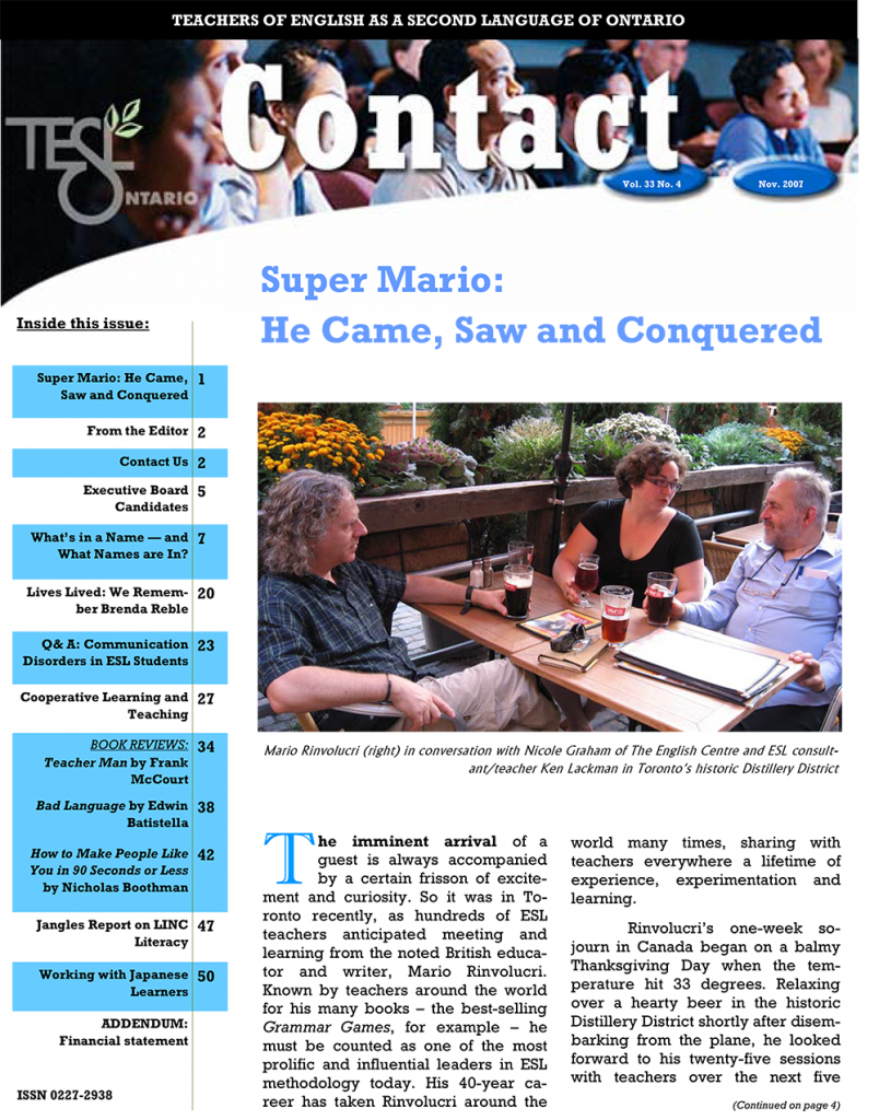 Contact Fall 2007 Issue Cover
