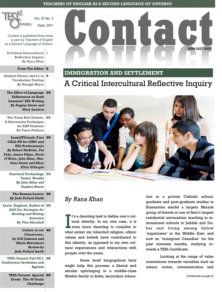 Contact Fall 2011 Issue Cover