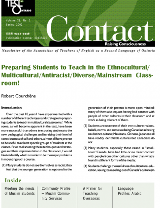 Contact Spring 2002 Issue Cover