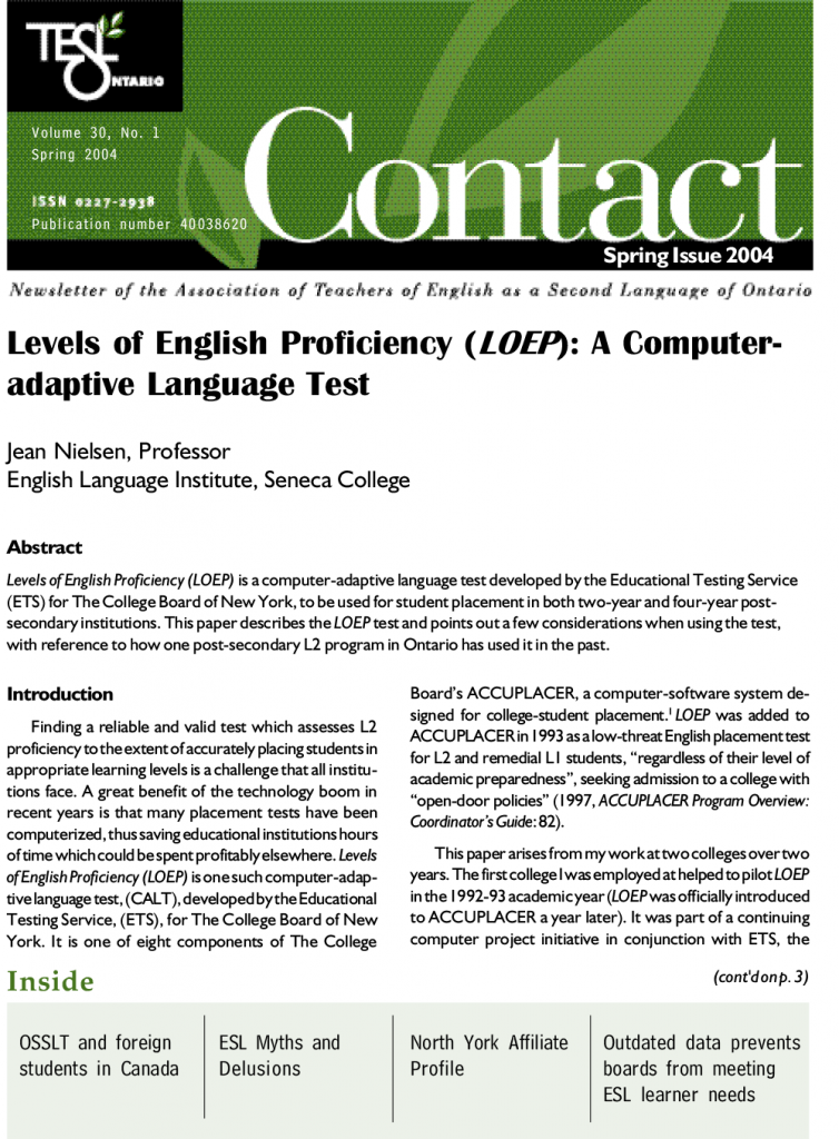 Contact Spring 2004 Issue Cover
