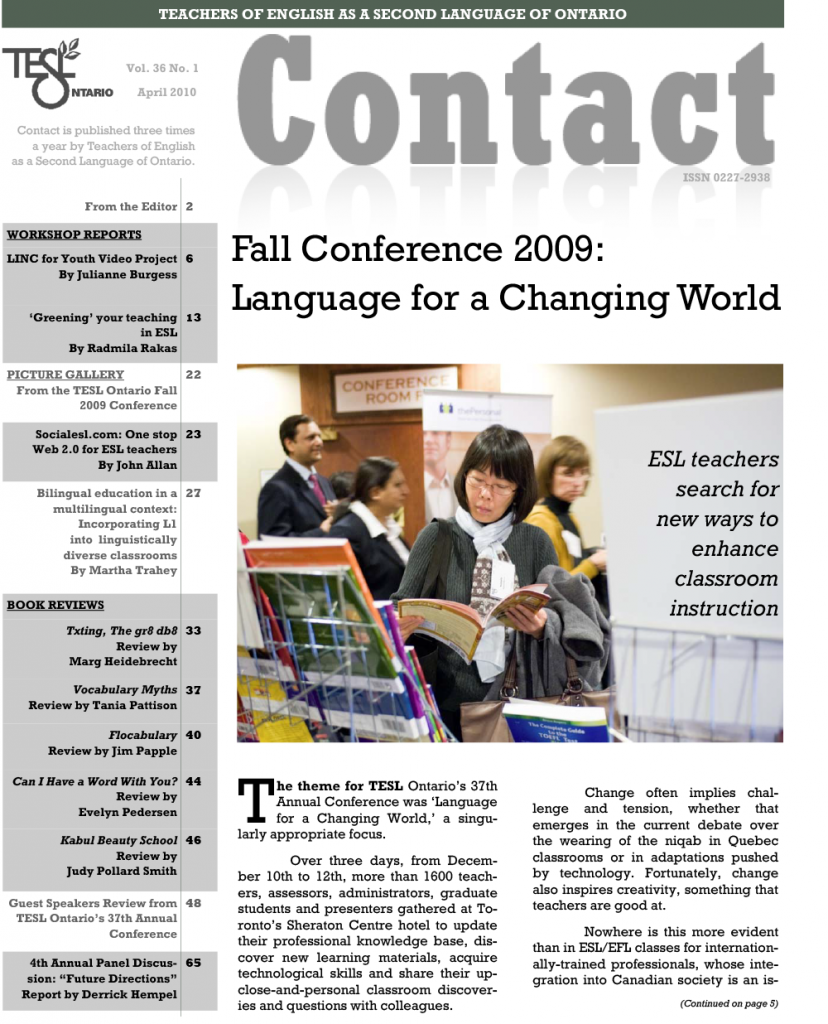 Contact Spring 2010 Issue Cover