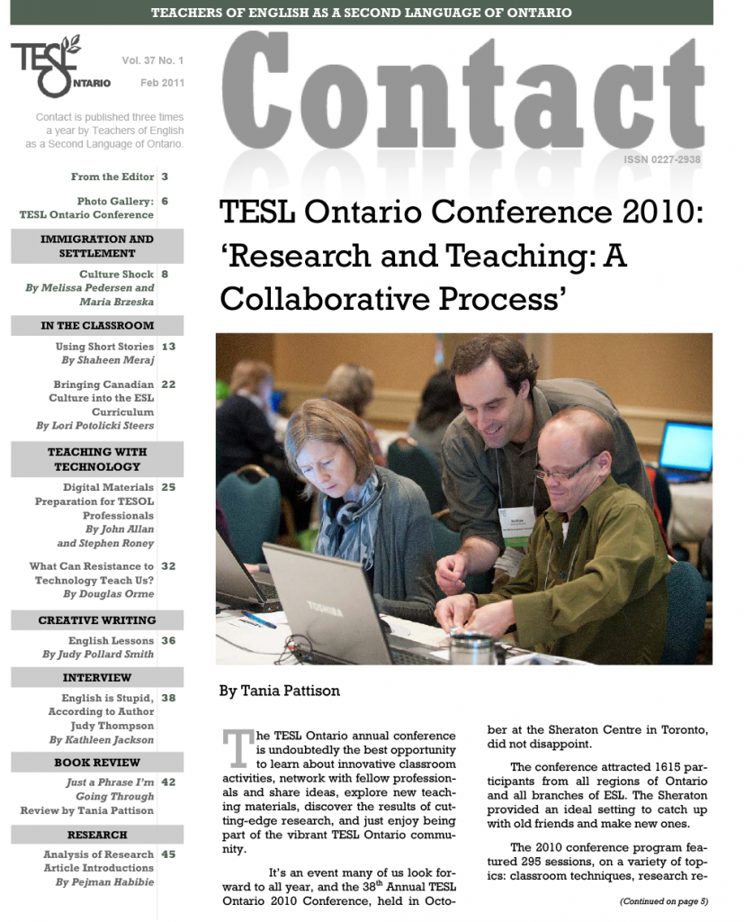Contact Spring 2011 Issue Cover