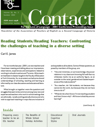 Contact Summer 2002 Issue Cover