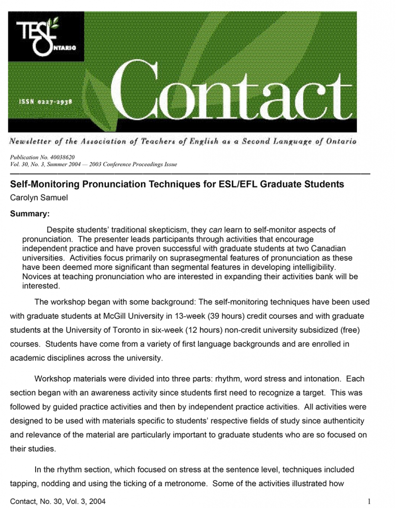 Contact Summer 2004 Issue Cover