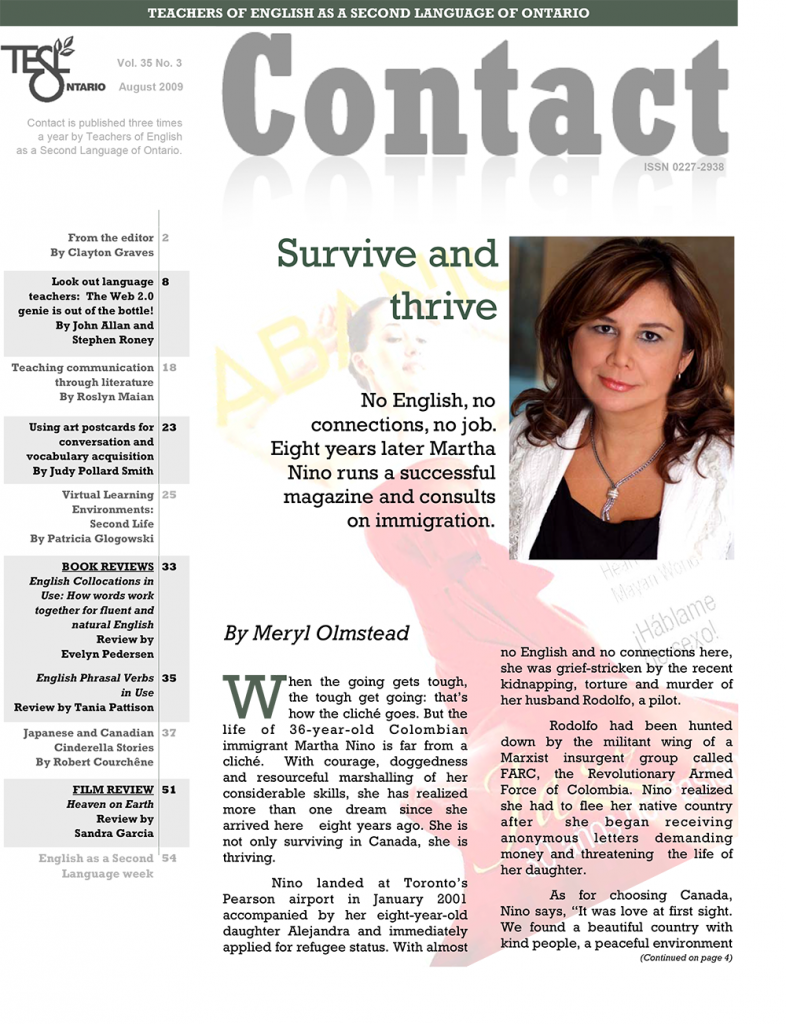 Contact Summer 2009 Issue Cover