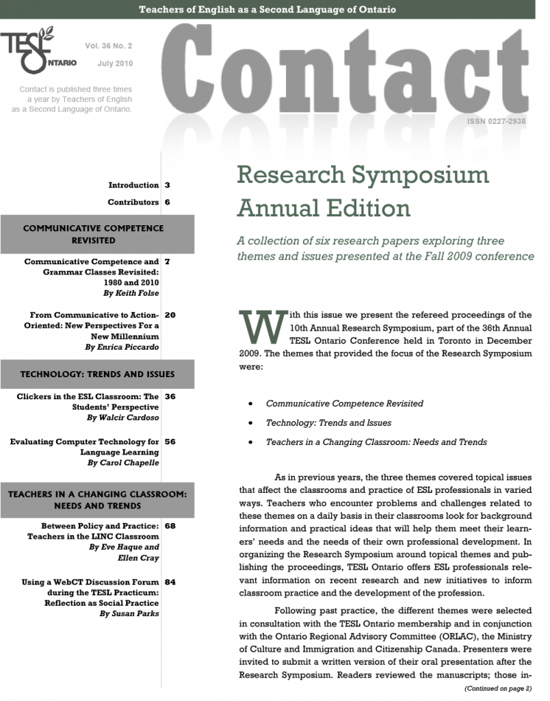 Research Symposium 2010