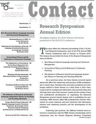 Research Symposium 2011