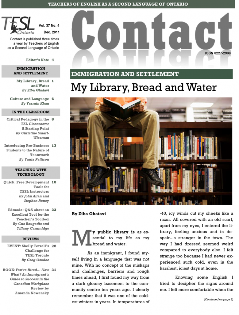 Contact Winter 2011 Cover